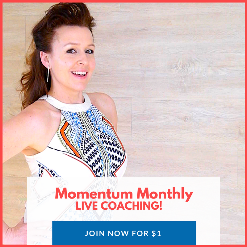 Here's How I Can Help - Momentum Monthly LIVE COACHING - Website CTA