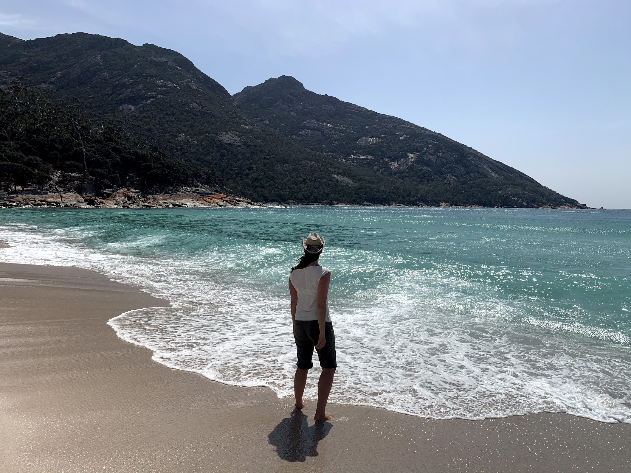 Jen - Looking out at Wineglass Bay